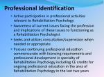 professional identification