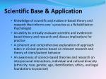 scientific base application