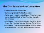 the oral examination committee