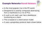 example networks novell netware