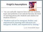 knight s assumptions