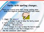 verbs with spelling changes