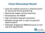 chart stimulated recall