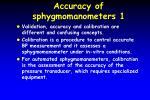 accuracy of sphygmomanometers 1
