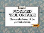 modified true or false