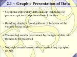 2 1 graphic presentation of data