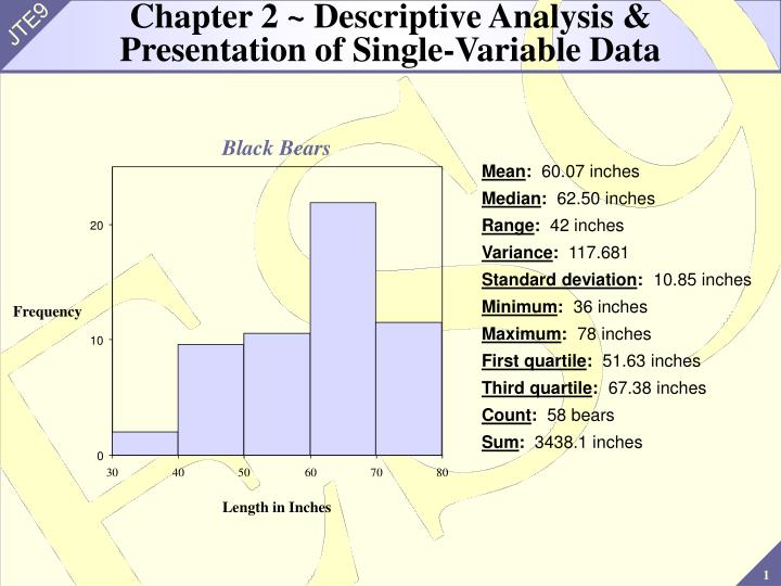 chapter 2 descriptive analysis presentation of single variable data n.