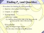 finding p k and quartiles