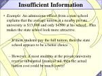 insufficient information
