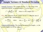 sample variance standard deviation