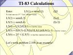 ti 83 calculations1