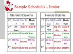 sample schedules junior