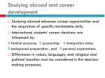 studying abroad and career development