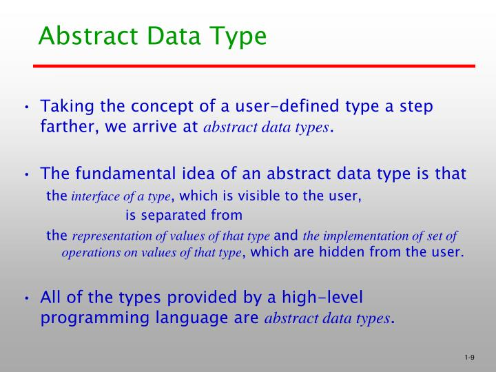 Abstract Data Type