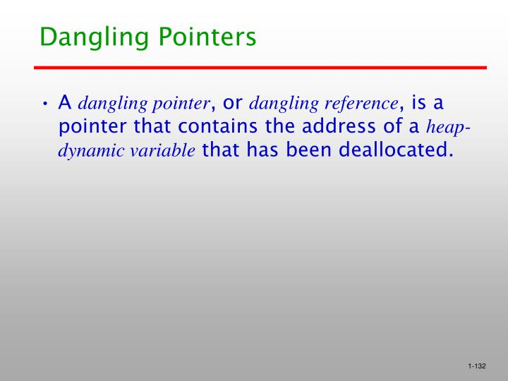 Dangling Pointers