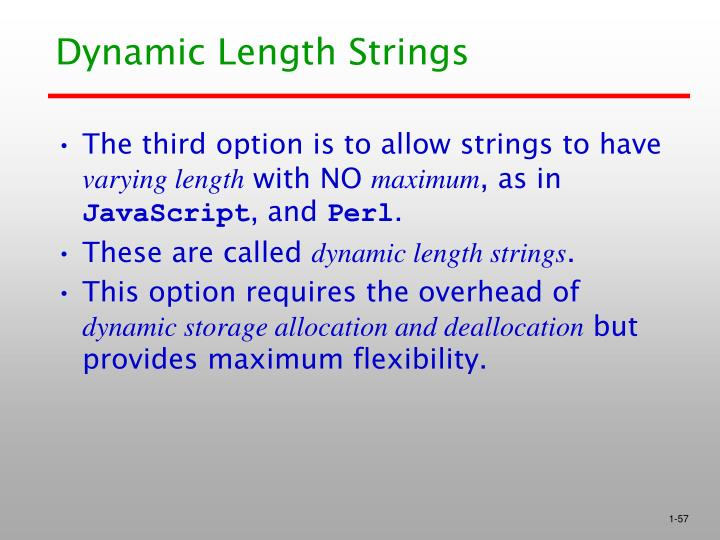 Dynamic Length Strings