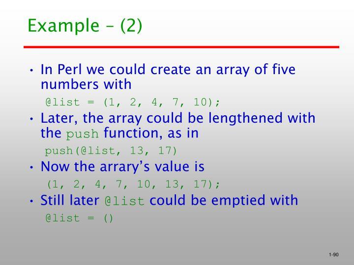 Example – (2)