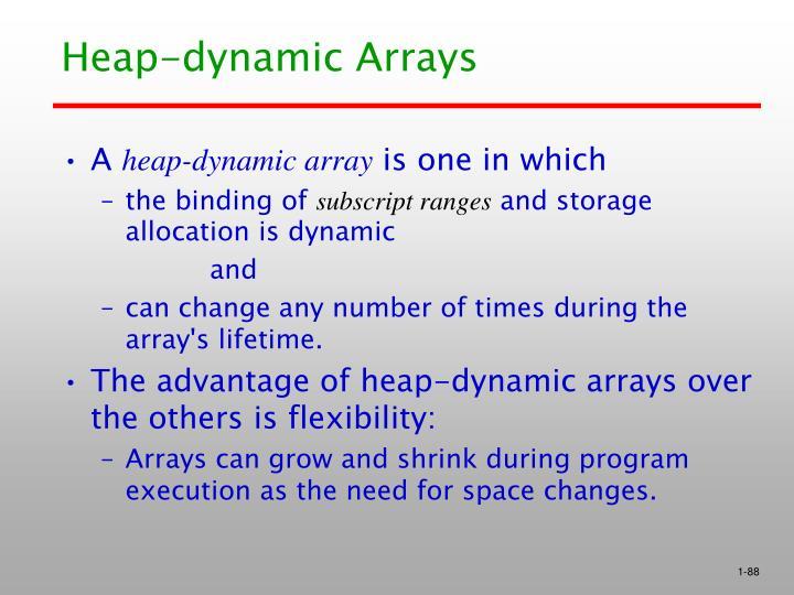 Heap-dynamic Arrays