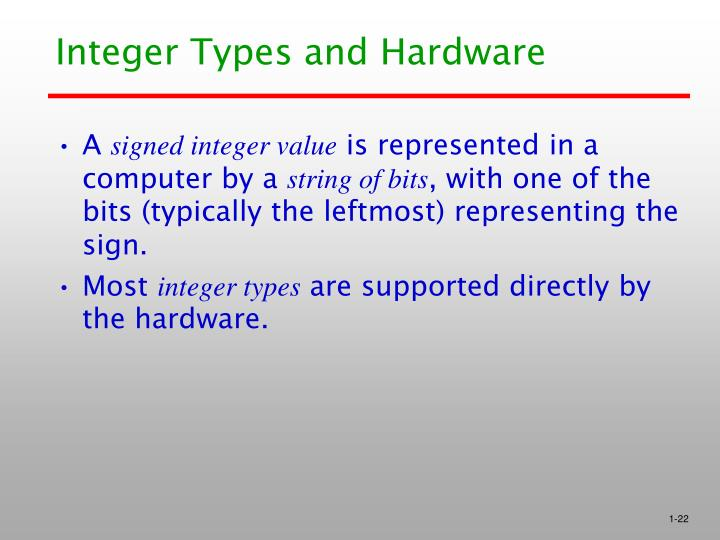 Integer Types and Hardware