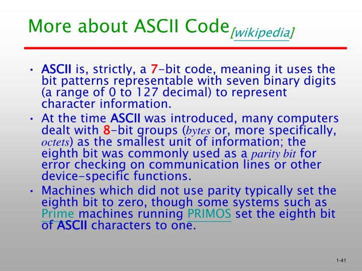 More about ASCII Code
