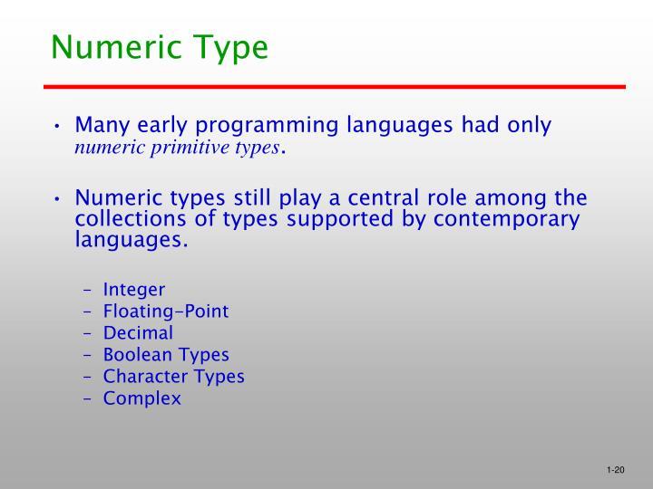 Numeric Type