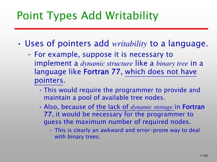 Point Types Add Writability