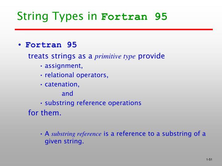 String Types in