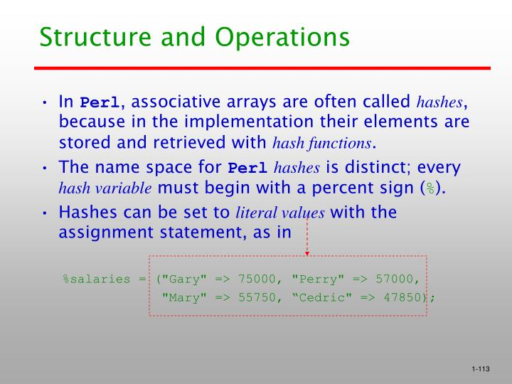 Structure and Operations