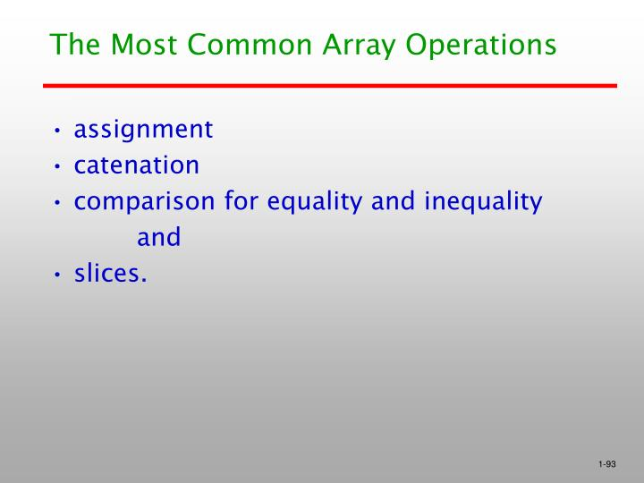The Most Common Array Operations