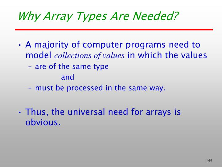 Why Array Types Are Needed?