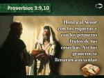 proverbios 3 9 10