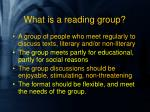 what is a reading group