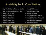 april may public consultation