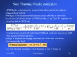 non thermal radio emission