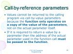 call by reference parameters