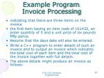 example program invoice processing1