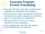 example program invoice processing4