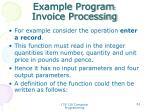example program invoice processing5