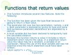 functions that return values2