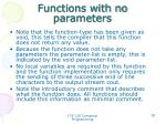 functions with no parameters1