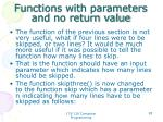 functions with parameters and no return value