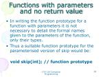 functions with parameters and no return value6