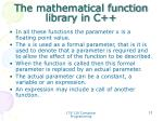 the mathematical function library in c1