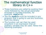 the mathematical function library in c2