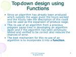 top down design using functions2