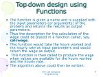top down design using functions3