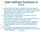 user defined functions in c2