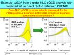 example d g x from a global nlo pqcd analysis with projected future direct photon data from phenix
