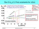 run 5 a ll p 0 first constraints for g x