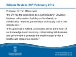 wilson review 28 th february 2012